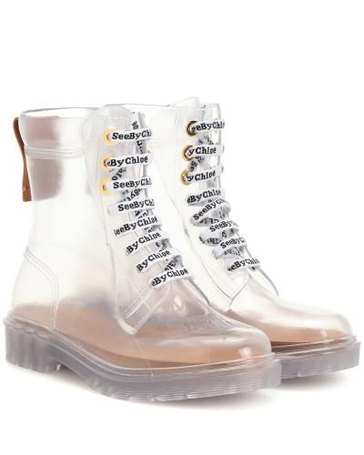 Transparente Ankle Boots