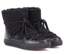 Leder-Boots Classic mit Pelz