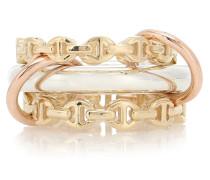 X Hoorsenbuhs Ring Microdame aus 18kt Gelbgold und 925er Sterlingsilber