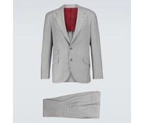 Gestreifter Anzug aus Wolle und Kaschmir