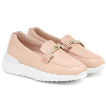 Plateau-Loafers Double T aus Leder