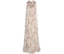 Langes Fil-Coupé-Kleid aus Seide