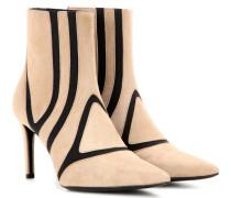 Anklebooties aus Veloursleder