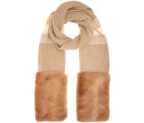 Schal aus Faux Fur und Schurwolle