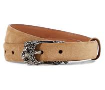 Wendbarer Gürtel aus Leder und Veloursleder