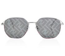 Sonnenbrille Aviator Baguette aus Metall