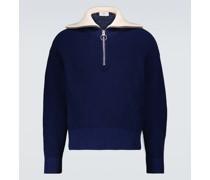 Pullover aus Baumwolle mit Reißverschluss