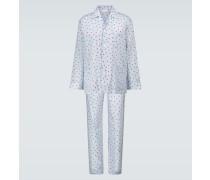 Bedruckter Pyjama aus Baumwolle