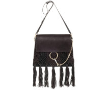 Tasche Faye Medium aus Leder und Veloursleder