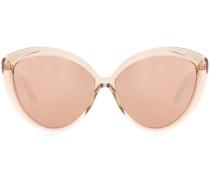 Cat-Eye-Sonnenbrille mit rosévergoldeten Gläsern