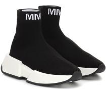 High-Top-Sneakers aus Mesh