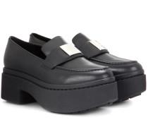 Plateau-Loafers Agness aus Leder