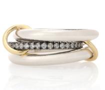 Ring Libra Noir aus 18kt Gelbold und Sterlingsilber