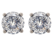 Ohrringe aus Silber mit Zirkonia-Kristallen