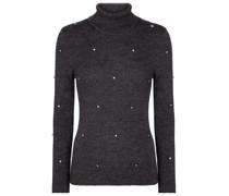 Verzierter Pullover aus Merinowolle