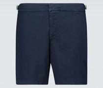 Shorts Bulldog aus Baumwoll-Twill