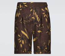 Bedruckte Shorts Nagi aus Cupro