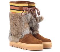 Stiefel aus Leder und Fell