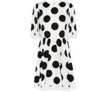 Kleid aus einem Seiden-Baumwoll-Gemisch