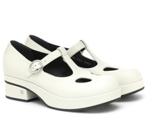 Mary-Jane-Loafers 40 aus Leder