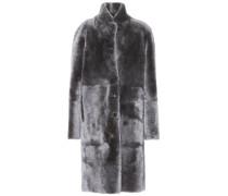 Mantel mit Fell zum Wenden