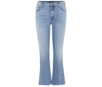 Cropped Jeans Boot aus Stretchdenim