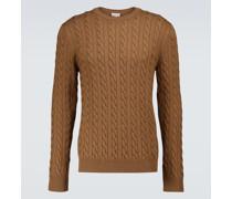 Pullover aus Merinowolle mit Zopfmuster
