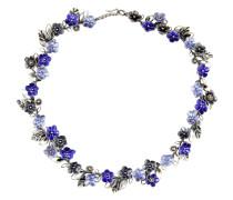 Halskette aus Silber, Glas und Emaille