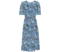 Bedrucktes Kleid Sylvia aus Seide
