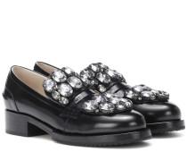 Verzierte Loafers aus Leder