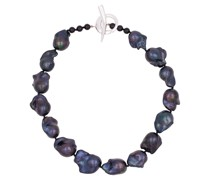 Halskette aus Sterlingsilber mit Süßwasserperlen