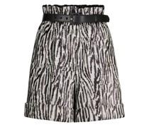 Paperbag-Shorts mit Pailletten