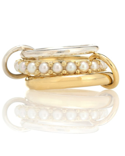 Ring Akoya aus 18kt Gelbgold mit Perlen