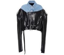 Jacke aus Denim und Leder