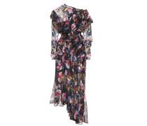 Asymmetrisches Kleid mit Seide