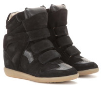 Étoile Bekett Wedge-Sneakers aus Veloursleder