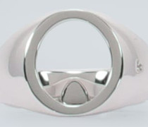 Ring Oval Open aus Sterlingsilber