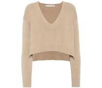 Cropped-Pullover aus Rippstrick