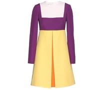 Colourblock-Kleid aus Crêpe