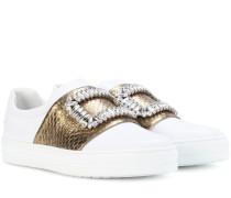 Sneakers Sneaky Viv' aus Leder und Schlangenleder