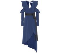 Asymmetrisches Kleid aus Crêpe