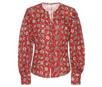 Bedruckte Bluse aus Leinen