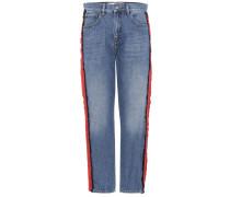 Verzierte Cropped Boyfriend-Jeans Neat Boy