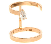 Ring Serti Sur Vide aus 18kt Roségold mit Diamant