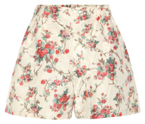 Geblümte Shorts aus Seide