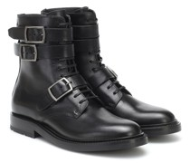 Ankle Boots Army aus Leder