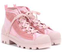 Ankle Boots Dinila mit Velourslederanteil