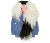 Jeansjacke Ched mit Shearling