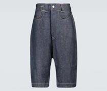 Jeansshorts aus Leinen