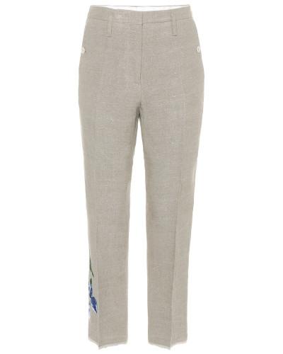 Bestickte Hose aus Leinen